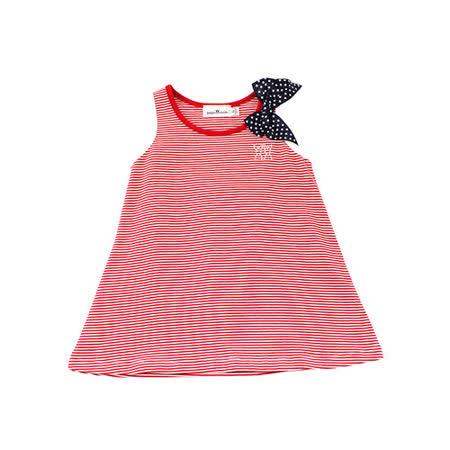 【愛的世界】pappa&ciccia 海灘小兔系列橫紋圓領背心洋裝/1~4歲-台灣製-
