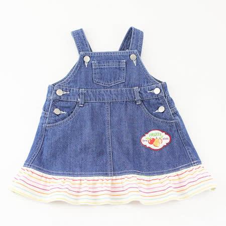 【愛的世界】MYBABY 水果百匯系列荷葉邊吊帶裙/1~3歲