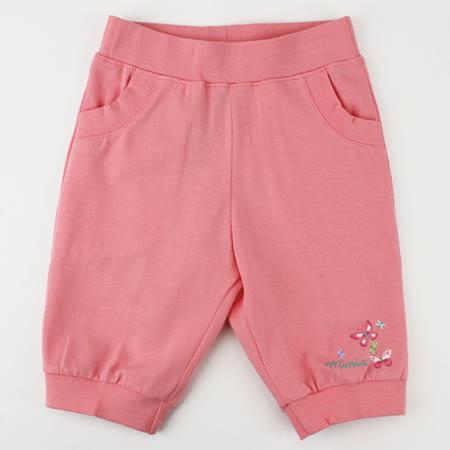 【愛的世界】MYBABY 蝶舞系列鬆緊帶彈性七分褲/4~8歲-台灣製-