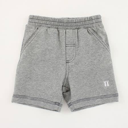 【愛的世界】pappa&ciccia 紳士小熊系列休閒運動短褲/6~12歲-灰色 -台灣製-