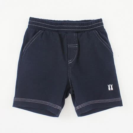 【愛的世界】pappa&ciccia 紳士小熊系列休閒運動短褲/6~12歲-藏青色 -台灣製-