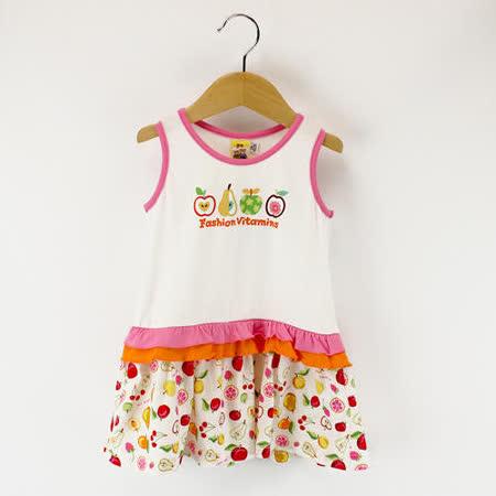 【愛的世界】MYBABY 水果百匯系列清涼無袖洋裝/2~4歲-台灣製-