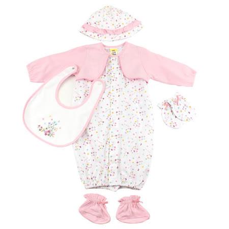 【愛的世界】MYBABY 小蝴蝶系列假兩件兩用嬰衣禮盒/3個月~6個月-台灣製-