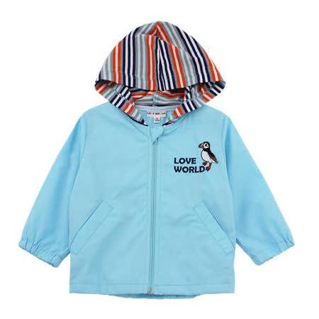 【愛的世界】LOVEWORLD 海鸚鵡系列純棉連帽長袖薄外套/1~3歲-台灣製-