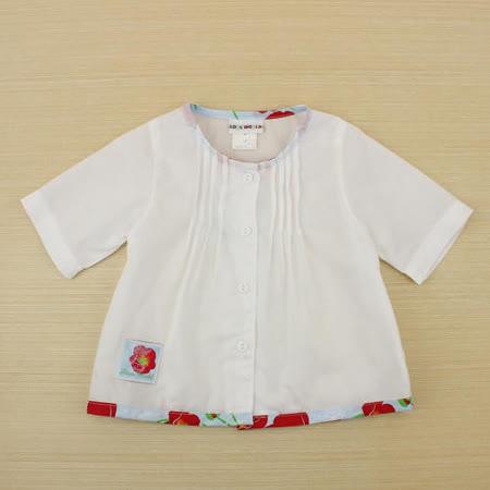 【愛的世界】LOVEWORLD 罌粟花系列 輕薄純棉七分袖外套/薄長袖/1~2歲 -台灣製-