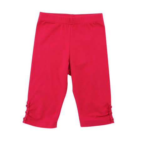 【愛的世界】LOVEWORLD 罌粟花系列鬆緊帶彈性七分褲/2歲-台灣製-