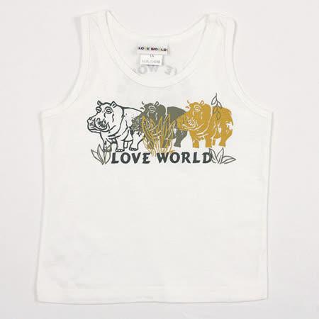 【愛的世界】LOVEWORLD 河馬系列清涼夏日純棉背心/3~4歲-台灣製-