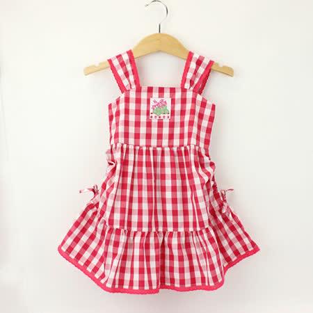 【愛的世界】LOVEWORLD 花盆系列夏日甜心純棉露背洋裝/3~4歲-台灣製-