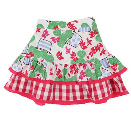 【愛的世界】LOVEWORLD 花盆系列鬆緊帶純棉小圓裙/8~10歲-台灣製-
