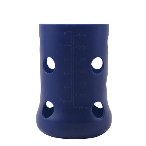 ~愛的世界~美國品牌 Mii Organics 矽膠奶瓶保護套~藍^(8oz^)