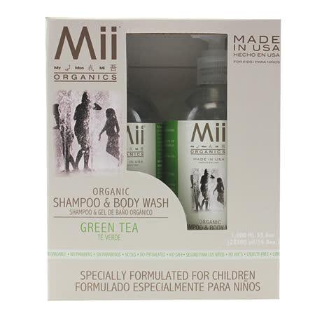 【愛的世界】美國品牌 Mii Organics 有機綠茶洗髮沐浴精/500ml*2-美國製-