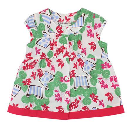 【愛的世界】LOVEWORLD 花盆系列純棉半袖上衣/2歲-台灣製-
