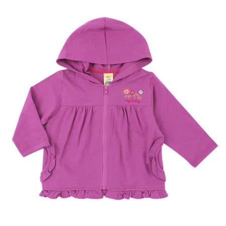 【愛的世界】MYBABY 東方假期系列純棉連帽拉鍊外套/3~4歲-台灣製-