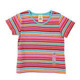 【愛的世界】MYBABY 東方假期系列 純棉圓領橫紋短袖T恤/1~2歲 -台灣製-