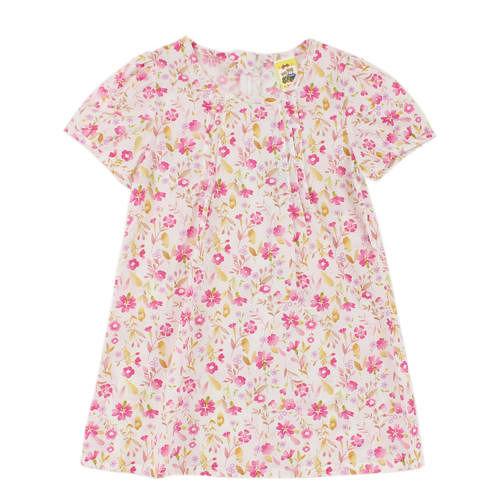 ~愛的世界~MYBABY 我的春天花園系列 純棉包袖拉鍊洋裝3歲 ~ 製~