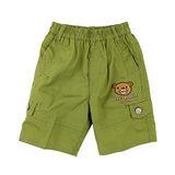 【愛的世界】LOVEWORLD 熊出沒系列鬆緊帶純棉短褲-綠色/3~4歲-台灣製-