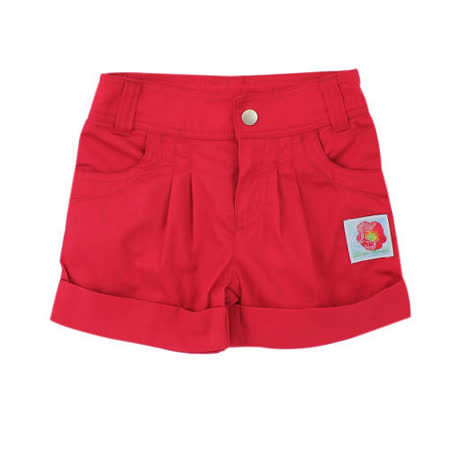 【愛的世界】LOVEWORLD 罌粟花系列純棉休閒短褲/6~8歲-台灣製-