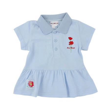 【愛的世界】LOVEWORLD 罌粟花系列純棉短袖POLO衫上衣/3~4歲-台灣製-
