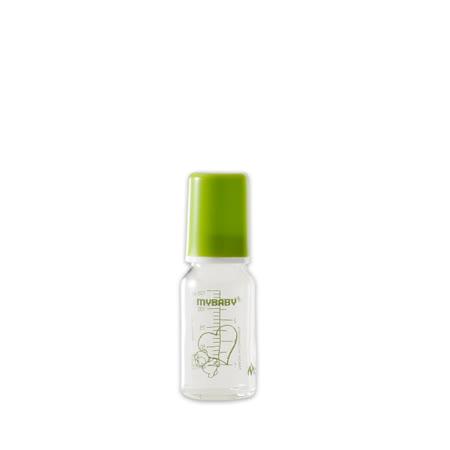 【愛的世界】MYBABY 德國進口耐熱玻璃奶瓶/德國奶瓶125ML(綠色)-德國製-