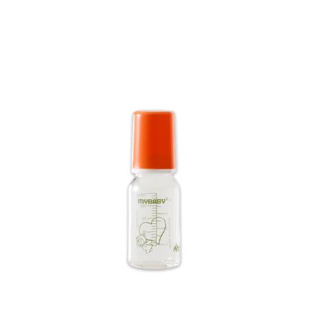 【愛的世界】MYBABY 德國進口耐熱玻璃奶瓶/德國奶瓶125ML(橘色)-德國製-
