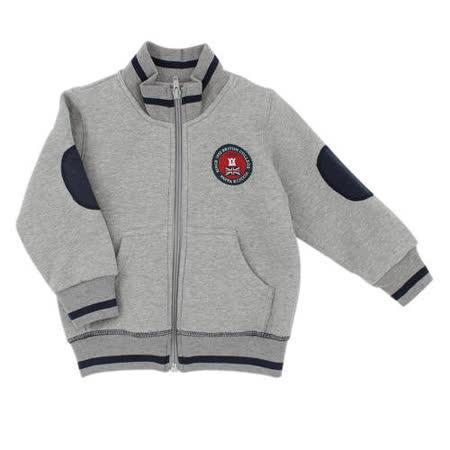 【愛的世界】pappa&ciccia 英倫學院系列保暖刷毛拉鍊外套/6~12歲-中國製-