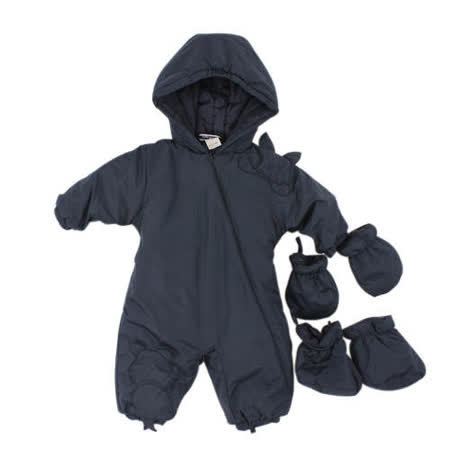 【愛的世界】pappa&ciccia 英倫學院系列防風舖棉連帽衣連褲/6個月~2歲-中國製-