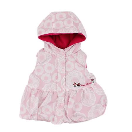 【愛的世界】LOVE WORLD 俄羅斯娃娃系列防風舖棉搖粒絨連帽背心/1~4歲