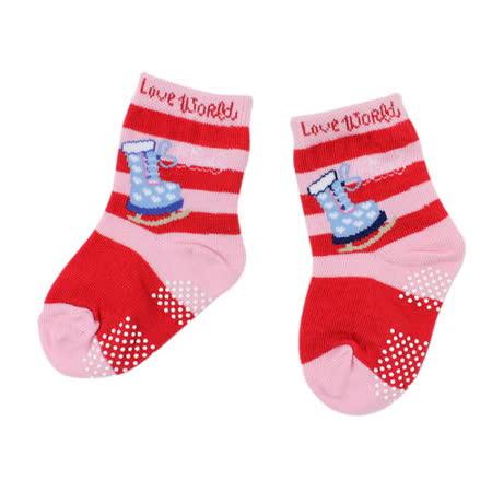 【愛的世界】LOVEWORLD 溜冰鞋圖案止滑透氣短襪/9~17CM-台灣製-