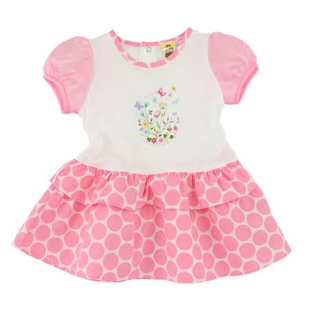 【愛的世界】MYBABY 蝶舞系列紡紗公主袖洋裝/1~3歲-台灣製-