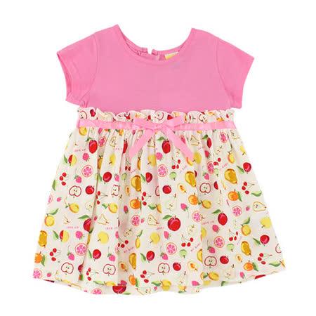 【愛的世界】MYBABY 水果百匯系列純棉高腰洋裝/1~3歲-台灣製-