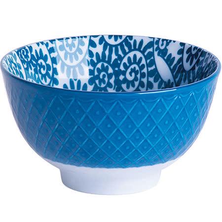 《EXCELSA》Oriented瓷餐碗(藤蔓藍10.5cm)