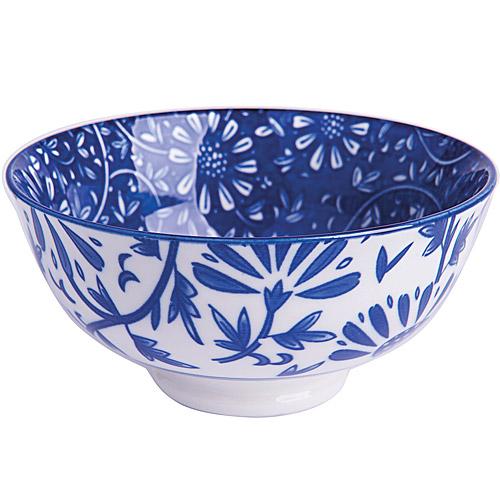 《EXCELSA》Oriented瓷餐碗 花卉藍12cm