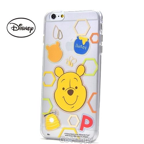 Disney【開心維尼】iphone6/6SPlus軟式手機背蓋