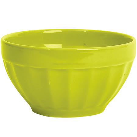 《EXCELSA》Fashion直紋陶餐碗(綠10cm)
