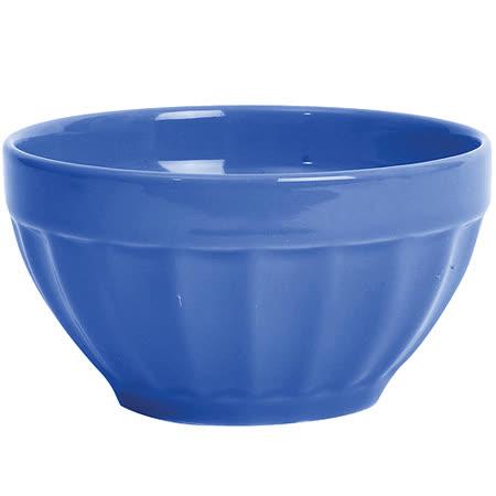 《EXCELSA》Fashion直紋陶餐碗(藍10cm)