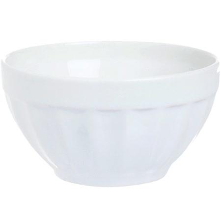《EXCELSA》Division直紋陶餐碗(白14cm)