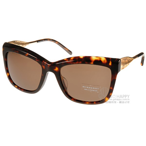 BURBERRY太陽眼鏡 Gabardine系列經典女款(琥珀) #BU4207F 300273