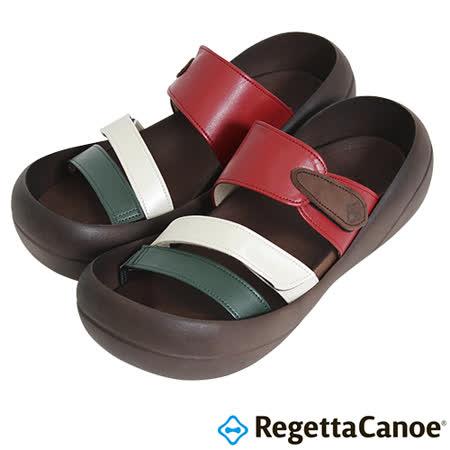RegettaCanoe _(女款)CJBF-5149優雅樂步休閒鞋-綠白紅