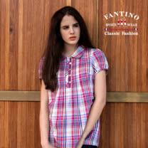 【FANTINO】女款 繽紛格紋休閒長版襯衫(彩格)474107