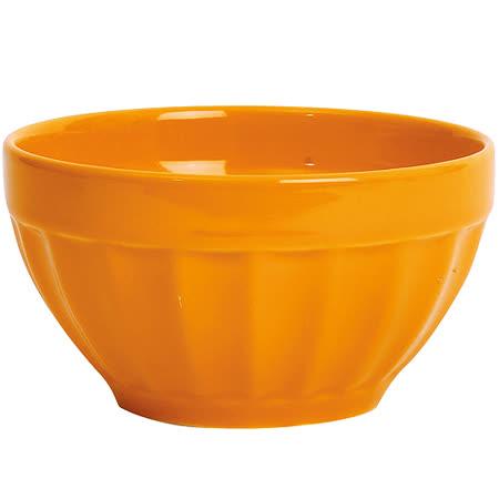 《EXCELSA》Fashion直紋陶餐碗(橘14cm)