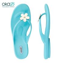 【OkaB】MARYAM立體花漾夾腳拖鞋 水藍(k4893-CAP)
