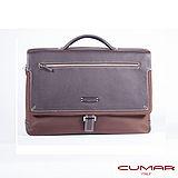 CUMAR 大容量尼龍配皮公事包-咖啡色 0296-79302