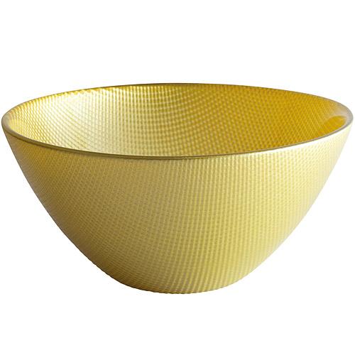 《EXCELSA》Diamond菱紋玻璃碗 綠15cm