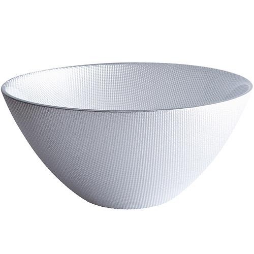 ~EXCELSA~Diamond菱紋玻璃沙拉碗 銀20cm