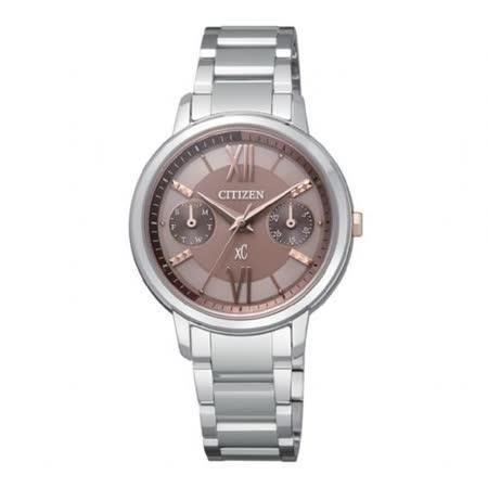 CITIZEN xC 甜蜜心情光動能腕錶(咖啡/30mm) FD1010-53W