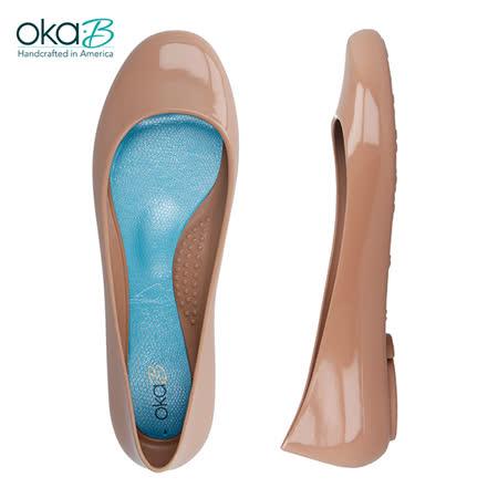 【OkaB】TAYLOR經典款亮面娃娃鞋/包鞋 粉色(k0597BB-BLUS)