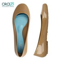 【OkaB】TAYLOR經典款亮面娃娃鞋/包鞋 駝色(k0533BB-CAM)