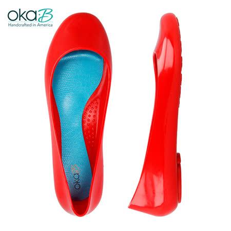 【OkaB】TAYLOR經典款亮面娃娃鞋/包鞋 紅色(k0524BB-CHE)