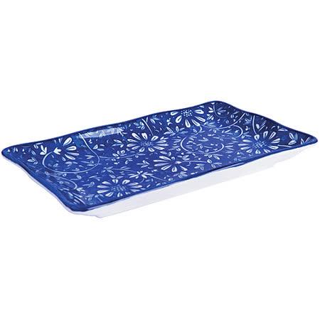 《EXCELSA》Oriented瓷餐盤(花卉藍20cm)