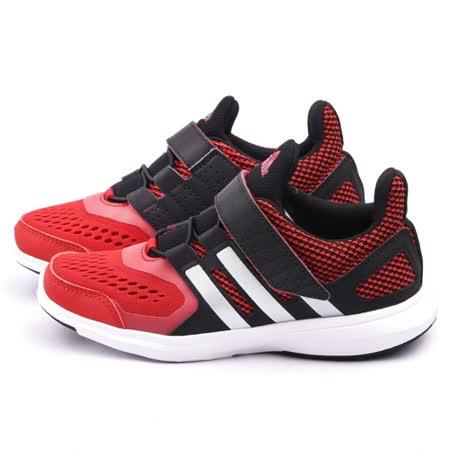 Adidas 大童 新穎絆帶運動跑鞋AQ1870-黑紅